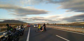 accidente de moto varios heridos