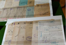 documentos robados recuperados