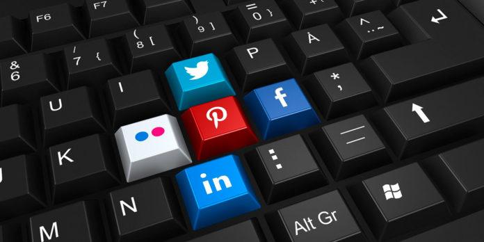 teclado social media