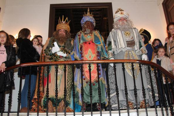 los reyes magos en el ayuntamineto de Yecla