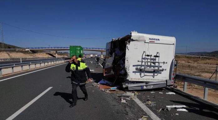 accidente autocaravana