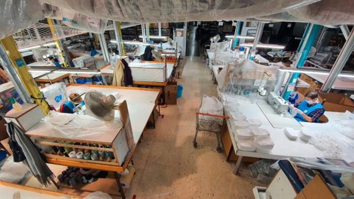 la zona de cosedoras