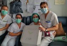 enfermeras horno callejon ancho gestos homenaje