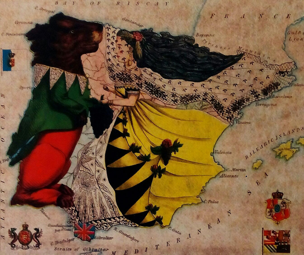 mapa españa portugal silencio teo carpena