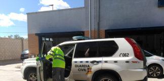 coche guardai civil desinfección