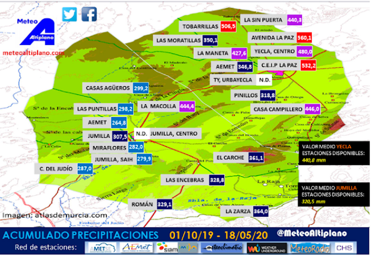 mapa lluvias comarca