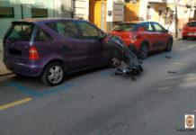 moto accidente dos detenidos