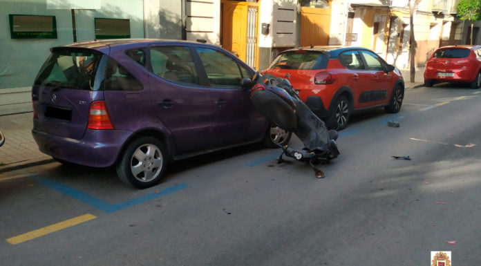 moto accidente dos detenidos