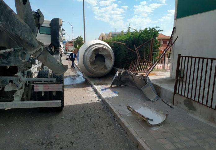 tolva del camión hormigonera