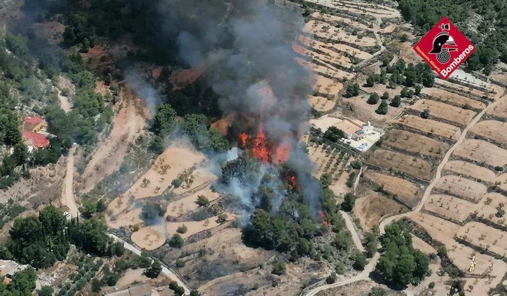 incendio forestal la romana