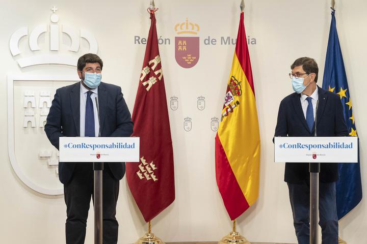 reuniones Fernando López Miras y Manuel Villegas