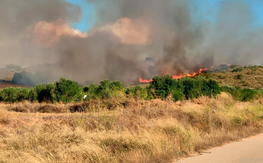 incendio en los cerricos de Yecla