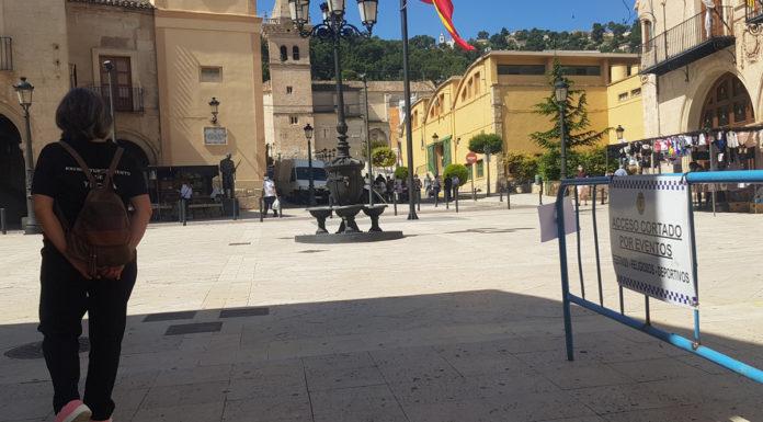 plaza mayor de yecla confinado