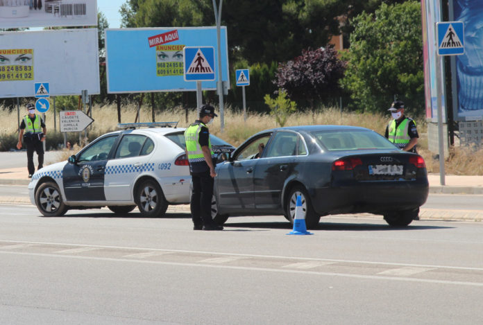 control de la policía local reuniones