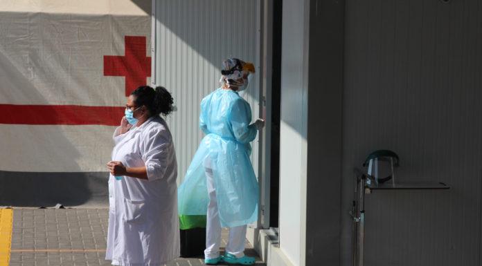sanitarios pcr colegios de Yecla