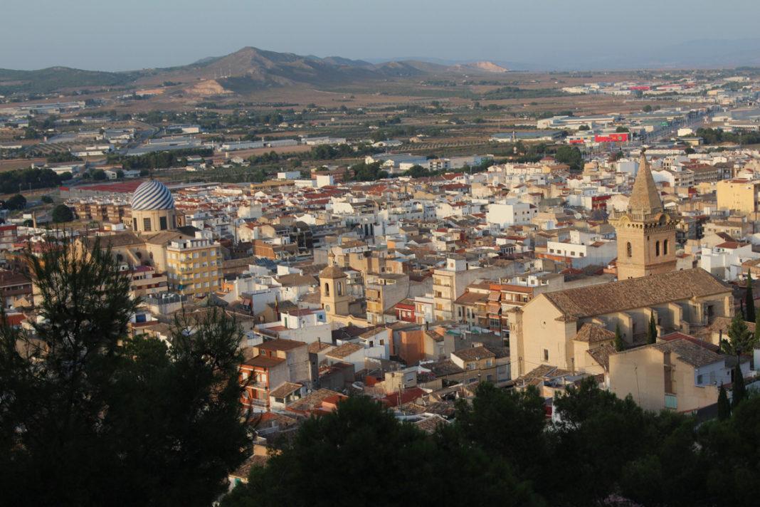 panorámica de la ciudad de Yecla