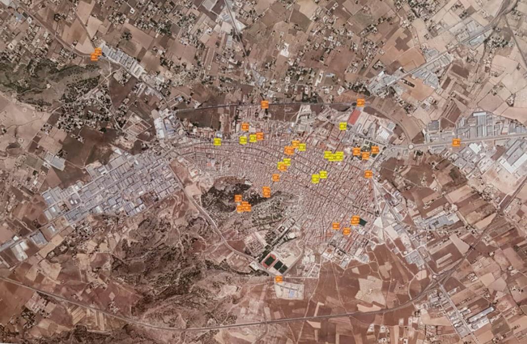 mapa de cámaras