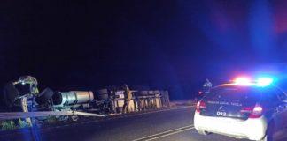 policia accidente camión sextuplicó