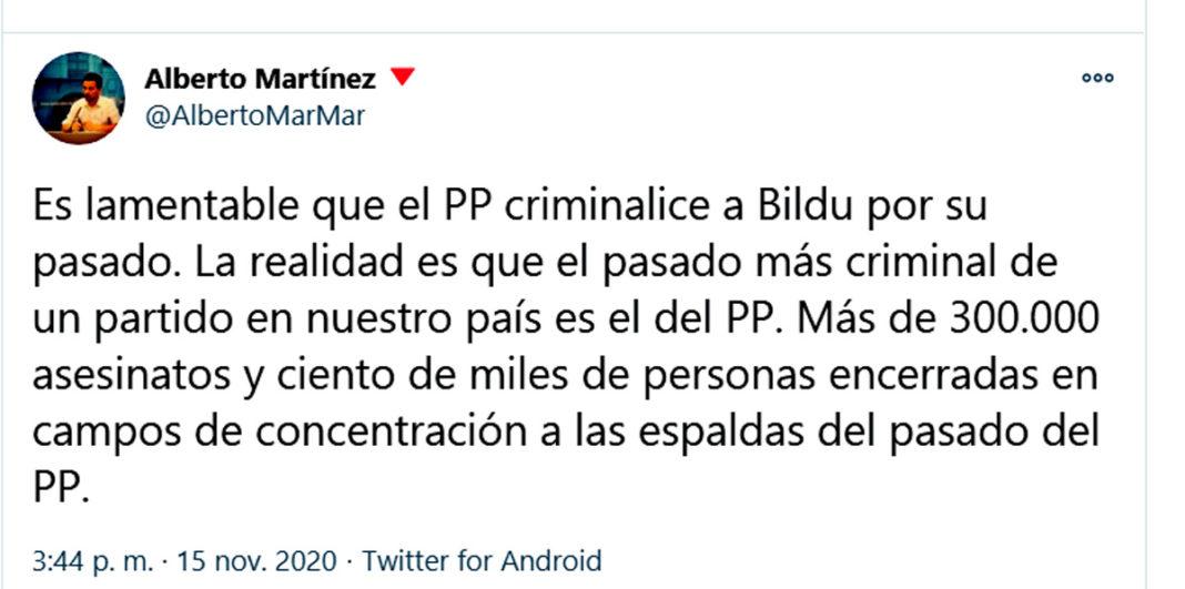 tuit alberto martínez PP
