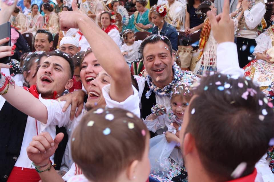 Marcos Ortuño en el día más feliz del año para él