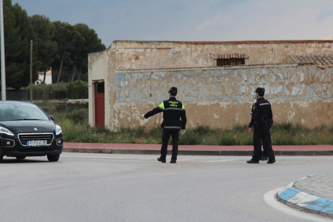 control de policía cierre perimetral