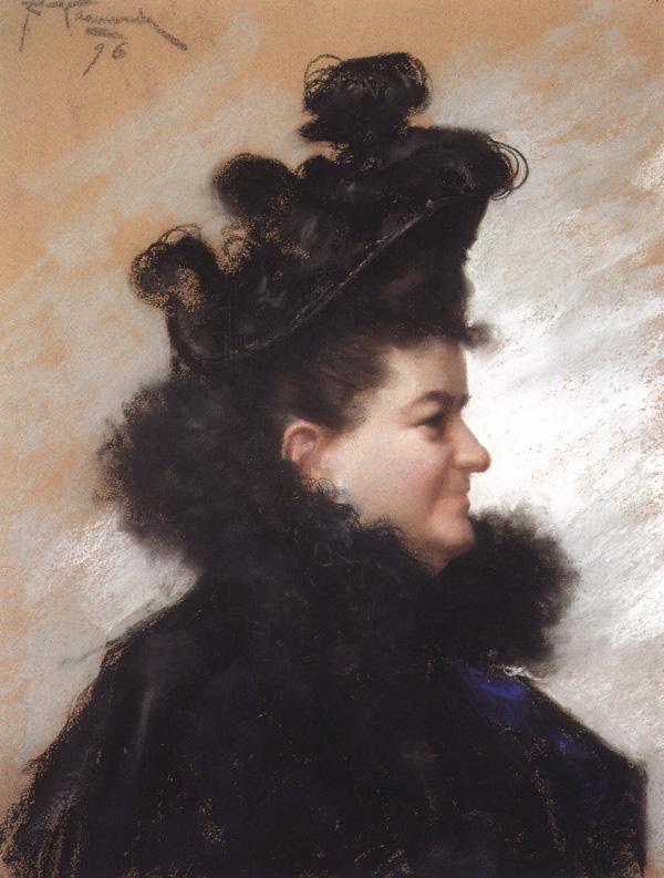 Retrato de Emilia Pardo Bazán (1896), del pintor coruñés Joaquín Vaamonde Cornide.