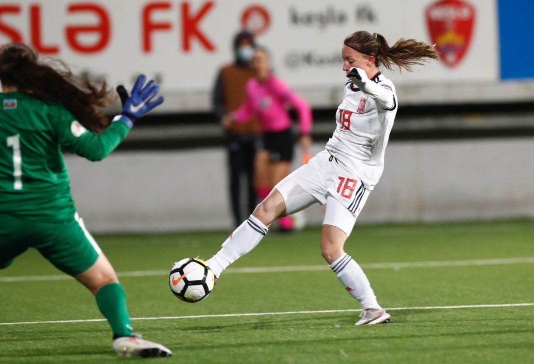 eva navarro gol selección Azerbaiyán