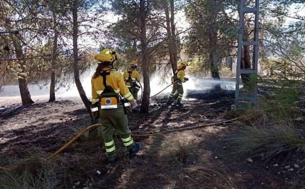 incendio en la pinada de la decarada