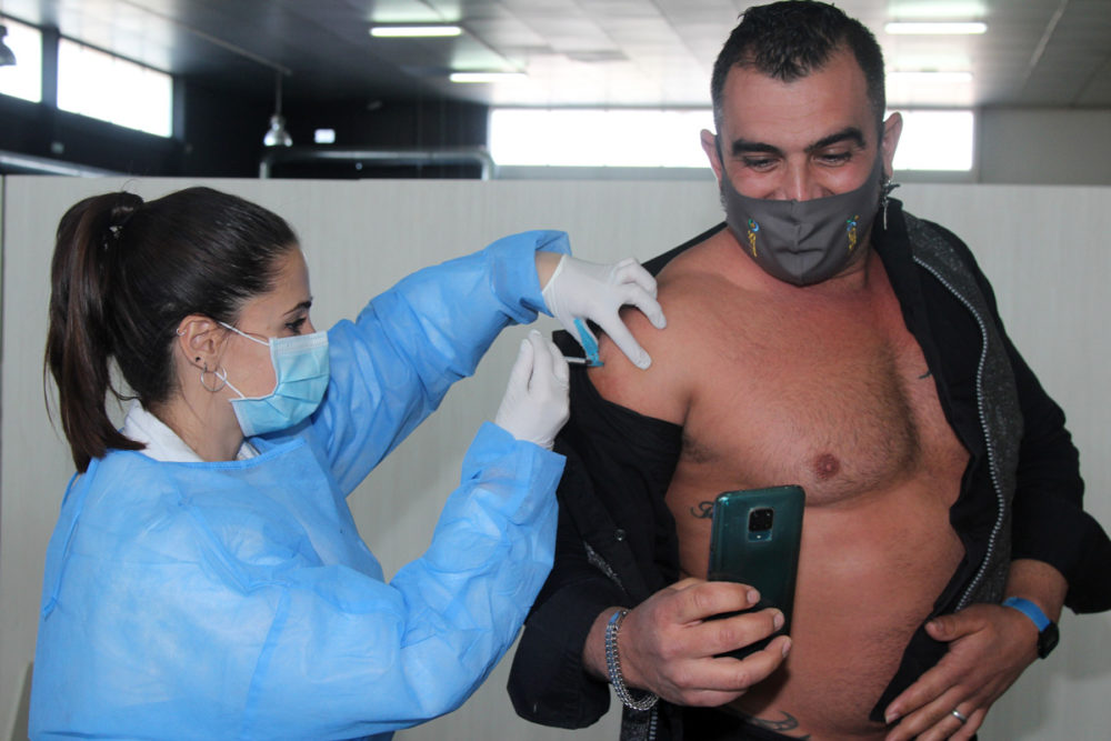 vacunación masiva en Yecla