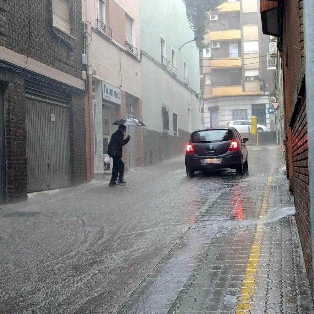 lluvias en la calle