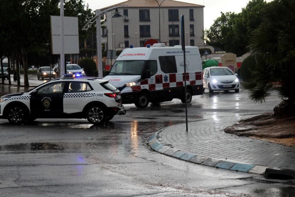 lluvias corte carretera villena
