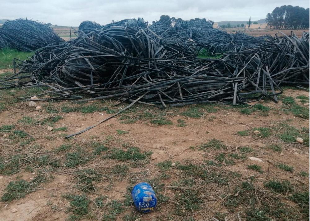 cultivos intensivos plasticos quemados incendio de plásticos