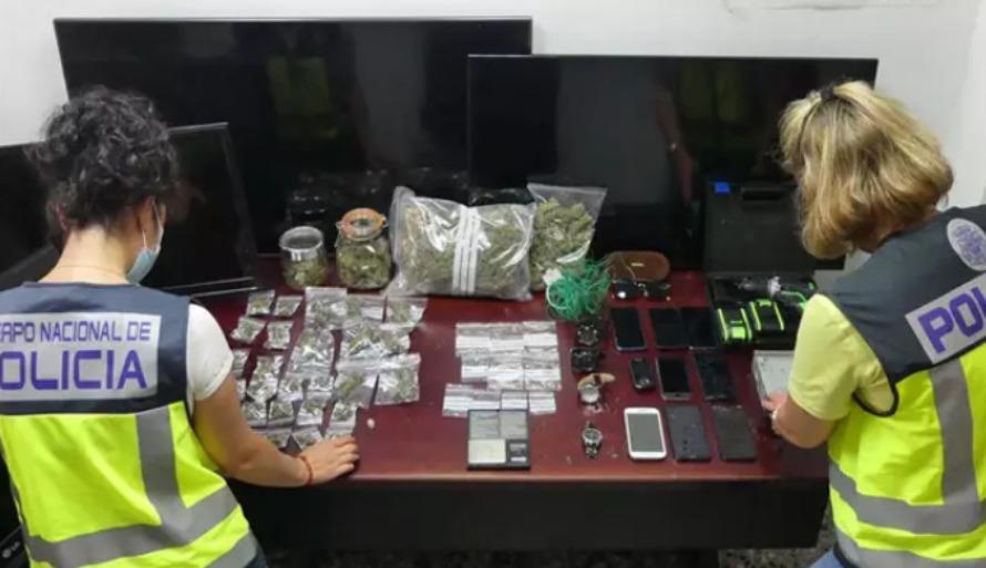 operación de la policía venta de droga