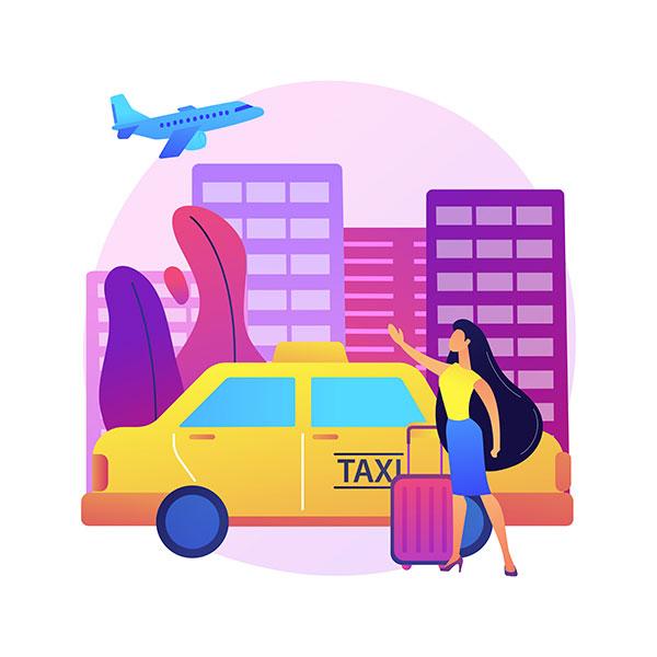 ilustración taxi