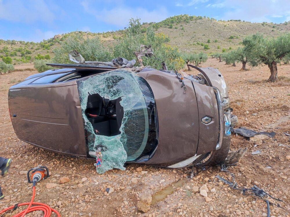 accidente jumilla tres heridos