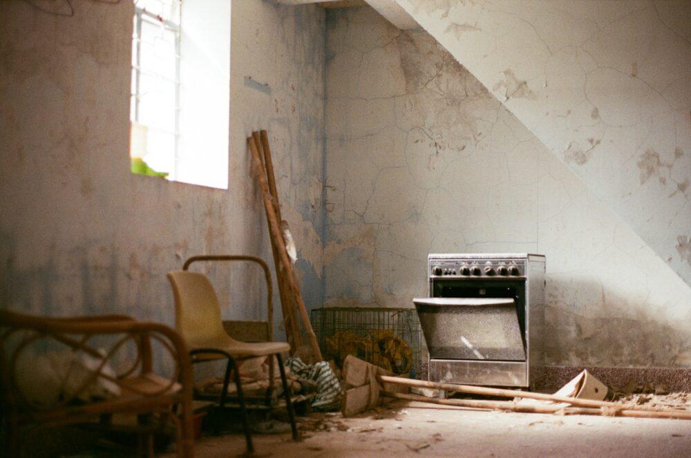 casa de campo abandonada Campules